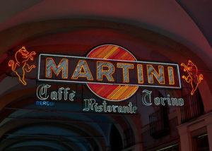 Neon Bergui, Insegna Neon Martini Caffe' Torino